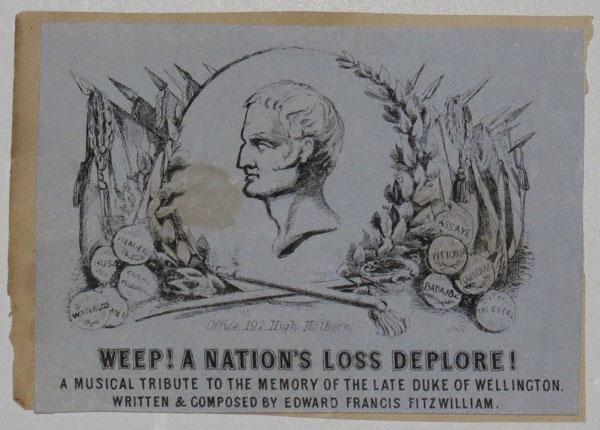 Weep! A Nation's Loss Deplore!