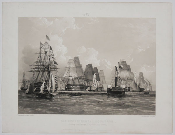 No.2. The Experimental Squadron. Getting under-weigh, at Spithead, July 15th. 1845.