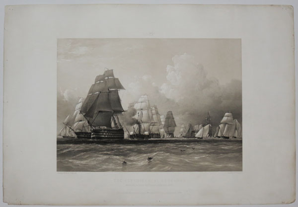 No.3. The Experimental Squadron. Departure from Spithead, July 15.th 1845.