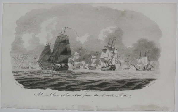 Admiral Cornwallis's retreat from the French Fleet.