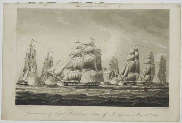 Commencement of Capt.n Schomberg's Action off Madagascar, May 26th. 1811.