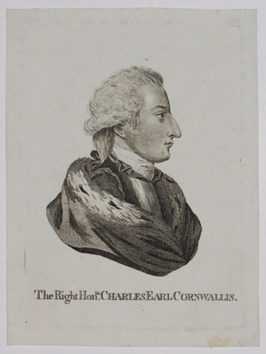 The Right Hon.ble Charles Earl Cornwallis.