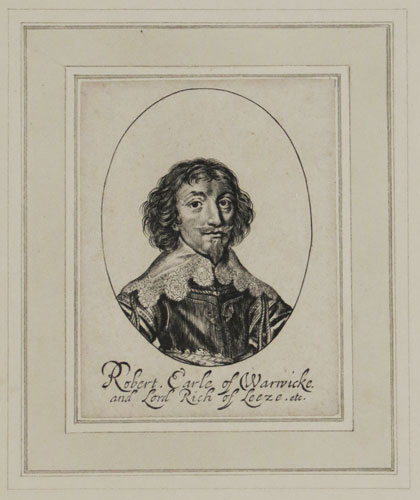 Robert, Earle of Warwicke, and Lord Rich of Leeze, etc.