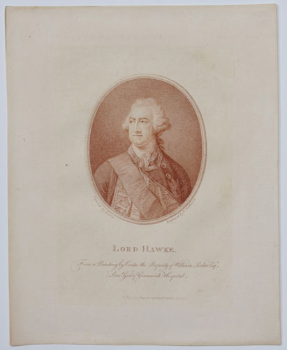 Lord Hawke. From a Painting by Coates the Property of William Locker Esq.r Lieu.t Gov.r of Greenwich Hospital.