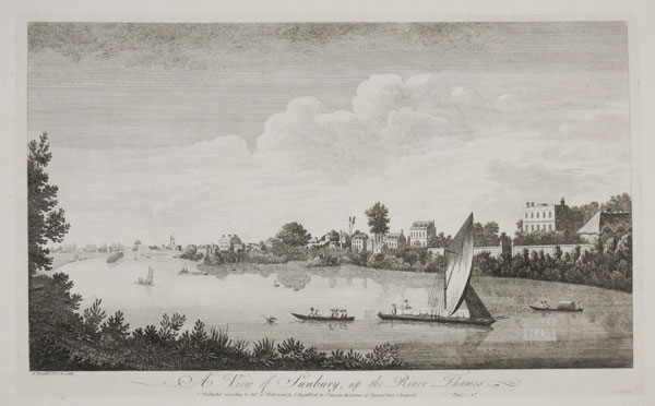 A View of Sunbury, up the River Thames.