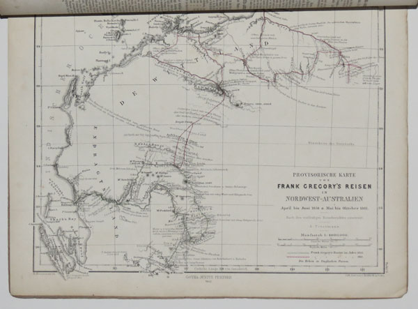 [The 1861 expedition of Frank T. Gregory in north west Australia, with map.]