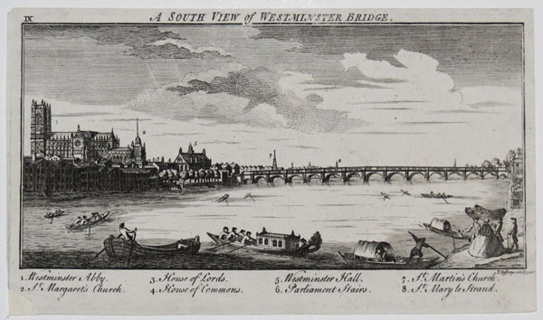 A South View of Westminster Bridge. IX.