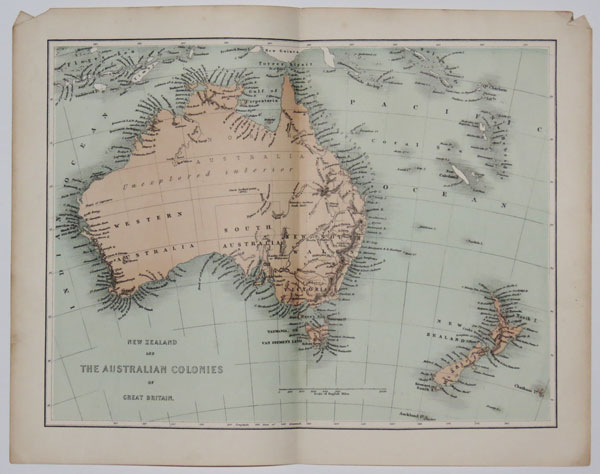 New Zealand and the Australian colonies of Great Britain.