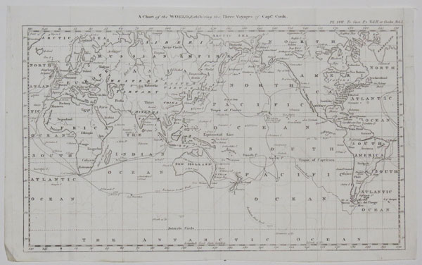 A Chart of the World, Exhibiting the Three Voyages of Capt.n Cook.