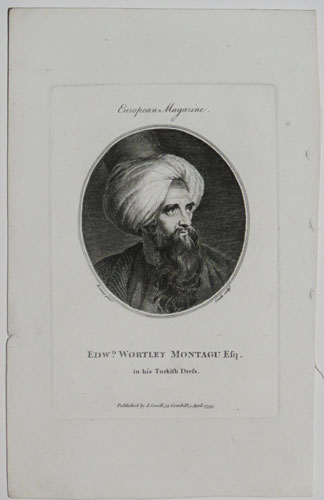 Edw.d Wortley Montagu Esq. in his Turkish Dress.