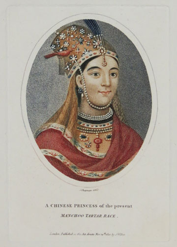 A Chinese Princess of the present Manchoo Tartar Race.