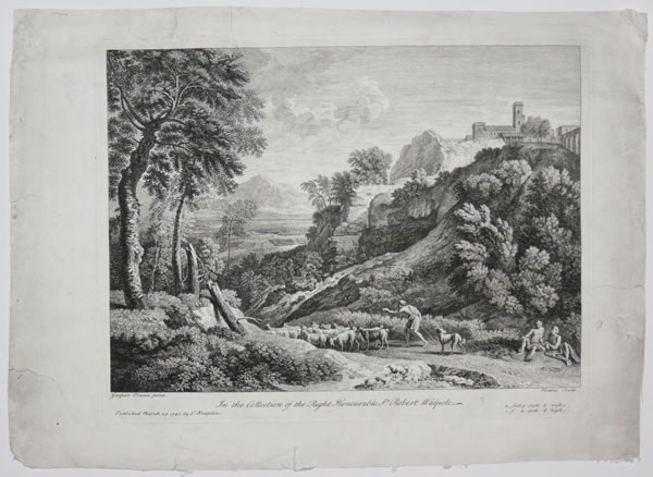 [The Cascade.] In the Collection of the Right Honourable Sr: Robert Walpole.