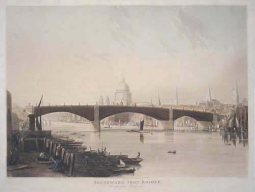 Southwark Iron Bridge, as seen from Bank-side.