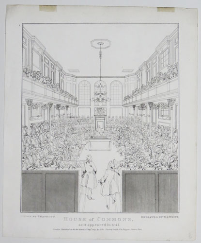 House of Commons, as it appeared in 1741/2.
