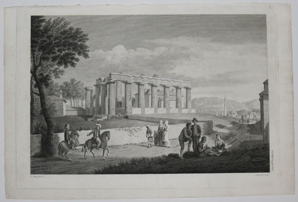 [View of the Temple of Apollo at Corinth.]