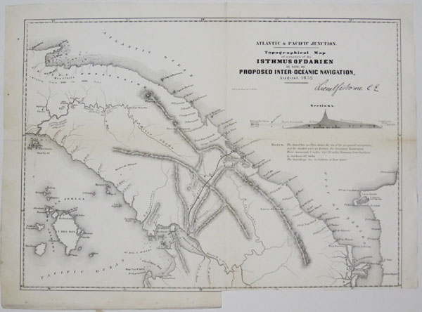 Topographical Map of a portion of the Isthmus of Darien