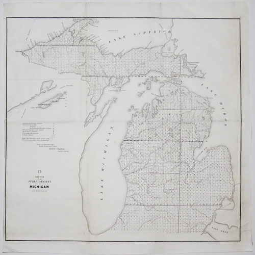 [Four maps of Michigan.]