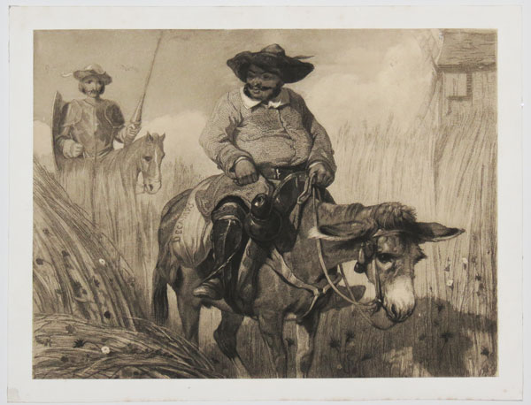 [Sancho Panza and His Master Ride Through the Cornfields.]