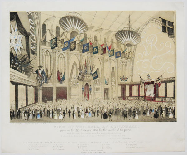 View of the Ball at Guildhall,  given on the 21: November 1837 for the benefit of the poles.