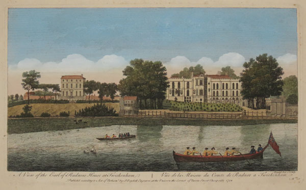 A View of the Earl of Radnor's House at Twickenham ~ Vue de la Maison du Comte de Radnor a Twickenham.
