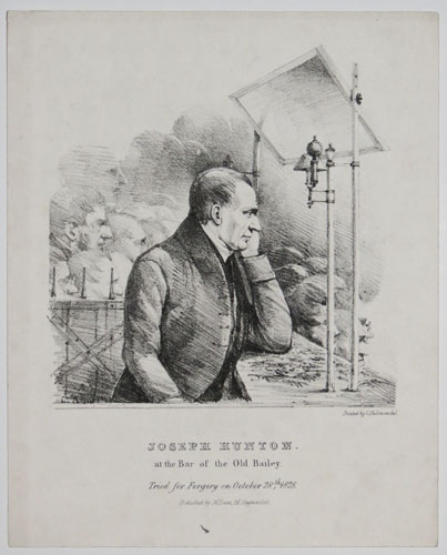 Joesph Hunton at the Bar of the Old Bailey;