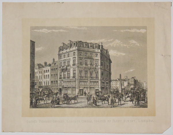 Cook's Tourist Offices, Ludgate Circus, Corner of Fleet Street, London.
