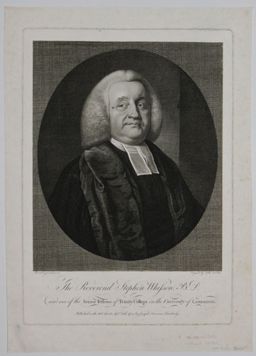 The Reverend Stephen Whisson, B.D. and one of the Senior Fellows of Trinity College in the University of Cambridge.