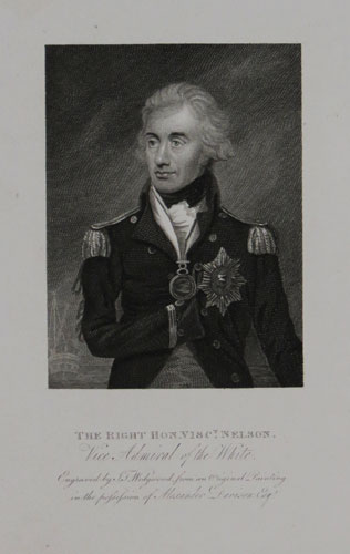 The Right Hon. Visc.t Nelson. Vice Admiral of the White.
