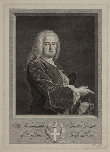 The Honourable Charles Leigh of Leighton Bedfordshire.