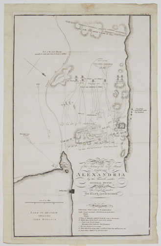 Plan of the Action of the 21st of March Fought near Alexandria,