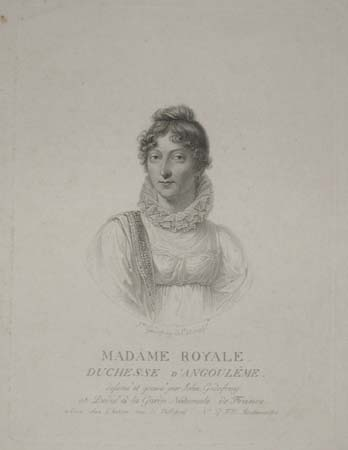 [France] Madame Royale. Duchesse D'Angouleme.