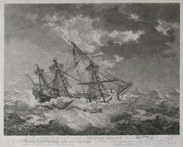 To the Commanders in the Honourable the East India's Company's Service  This view of the Neptune East Indiaman;