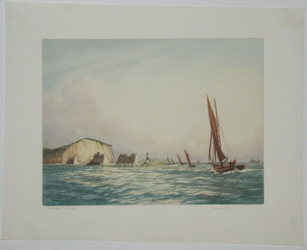 'The Needles' Isle of Wight [pencil.]