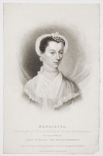 Henrietta, eldest daughter of Edward Leeds Esqr. of Croxton, Cambridgeshire.