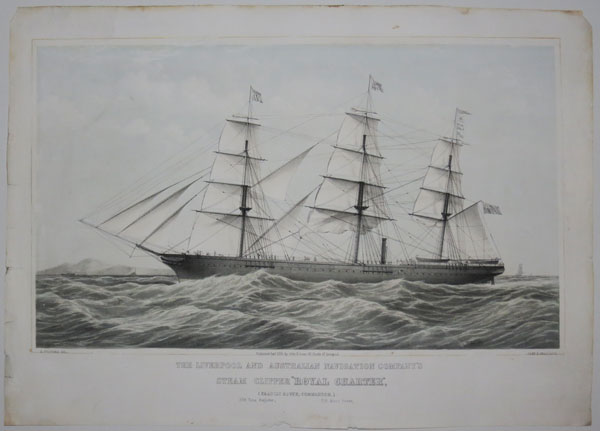"The Liverpool and Australian Navigation Company's Steam Clipper ""Royal Charter"","