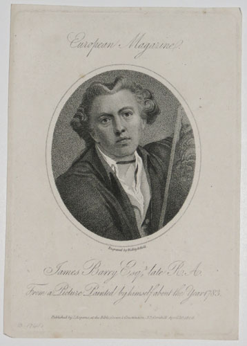 James Barry Esq.r late R.A. From a Picture Painted by himself about the Year 1783.