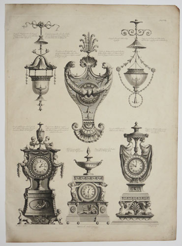 [Various Clocks & Pieces of Ornamental Furniture.]