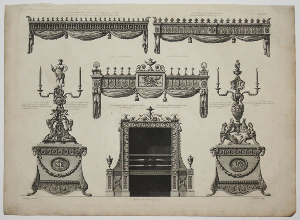 [Designs of different pieces of furniture done for this House.]