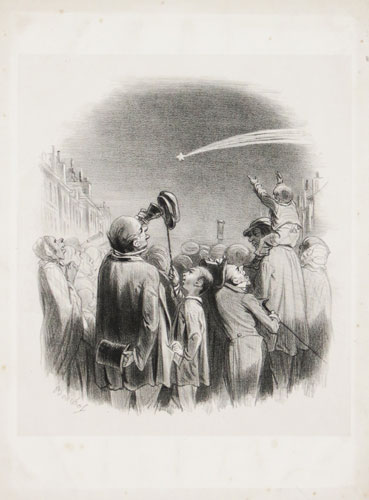 [A French crowd watching a comet.]