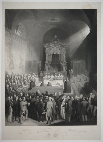 The Reform Bill receiving The King's Assent by Royal Commission.