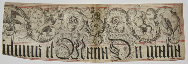 [Charter segment from the reign of William & Mary.] [Gui]limus et Maria Dei gratia [...]