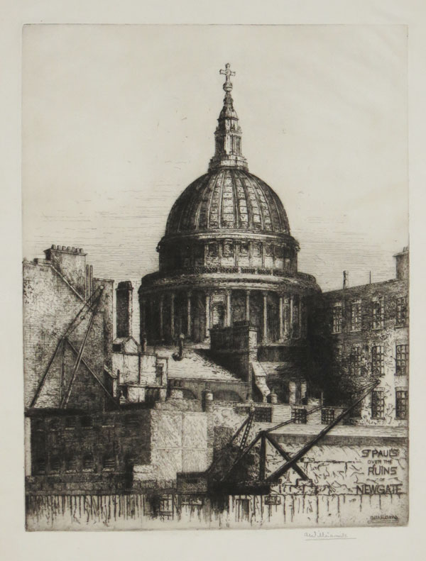 St Paul's over the ruins of Newgate.