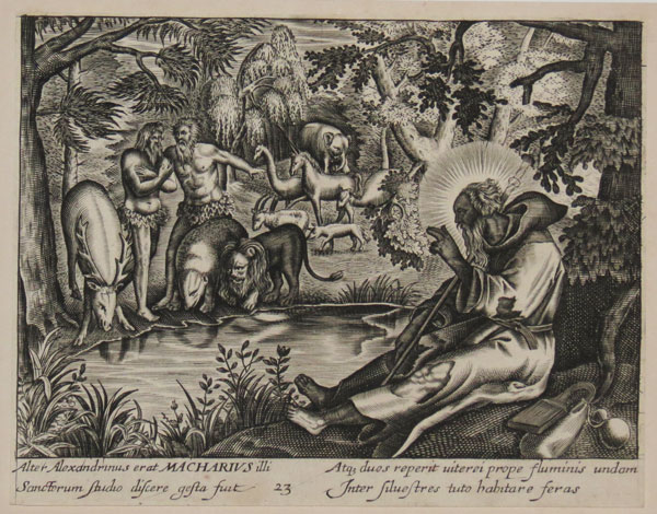 [Macarius with animals]