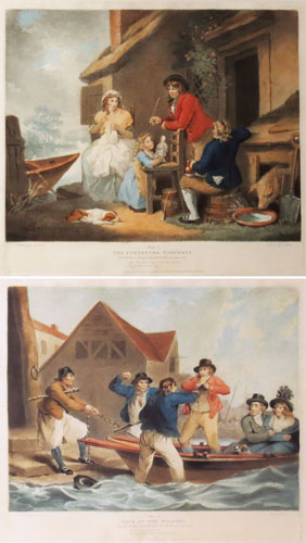 [Pair] Plate 1. The Contented Waterman / Plate 2. Jack in the Bilboes.