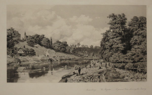 "Shrewsbury __ ""The Regatta."" __ A general View, showing the Quarry."