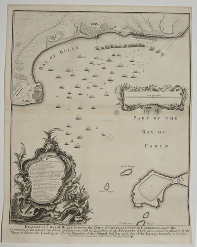 Draught of ye Bay of Bulls between the Town of Rotta & Fort St. Catherine,