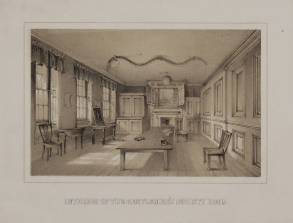 Inteior of the Gentleman's Society Room.