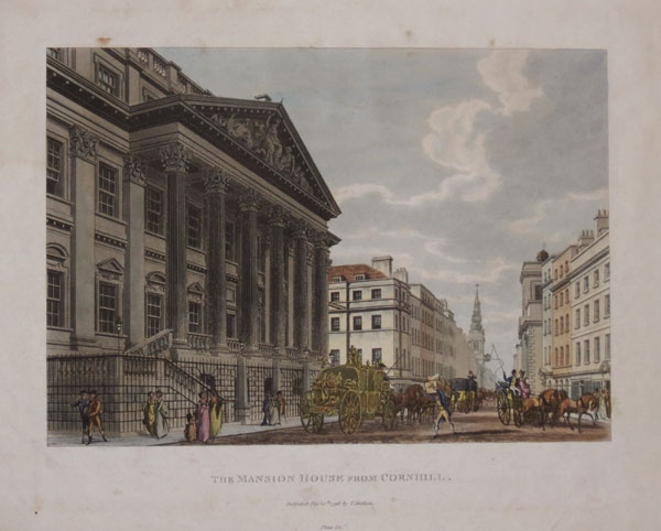 The Mansion House from Cornhill.