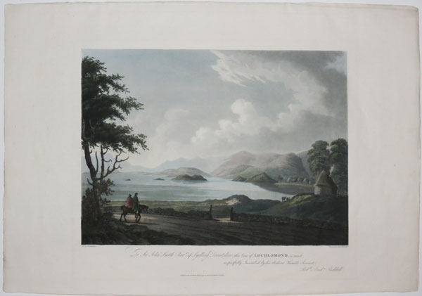 To Sir John Smith Bart. of Sydling Dorsetshire, this View of Lochlomond, is most respectfully Inscribed, by his obedient Humble Servant, Rob.t And.w Riddell.