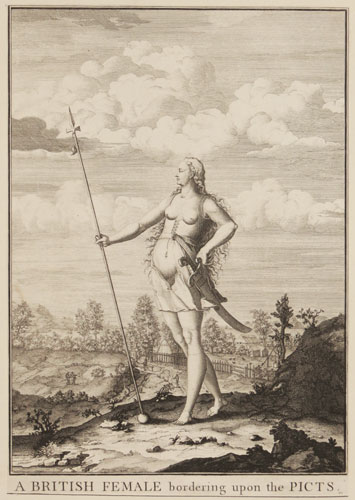 A British Female bordering upon the Picts.
